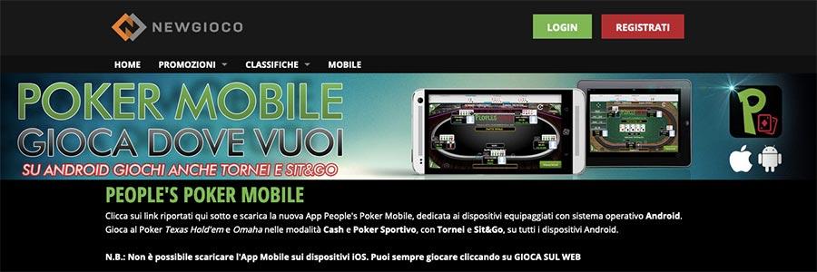 newgioco poker mobile