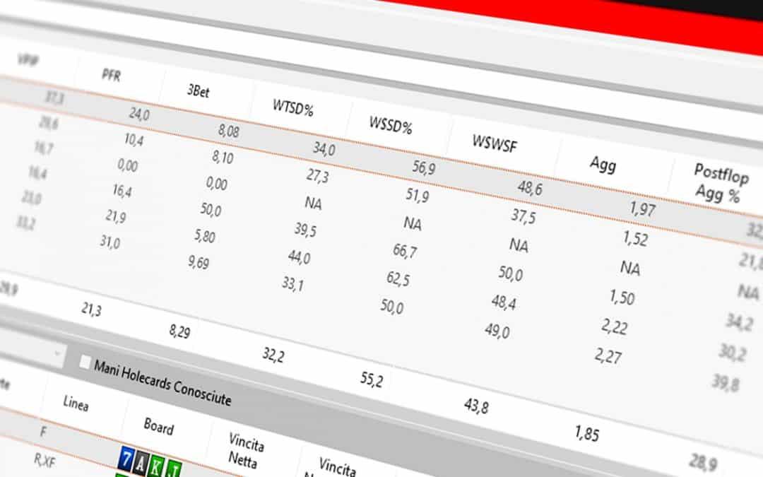 Statistiche HUD nel poker: WTSD, W$SD e WWSF